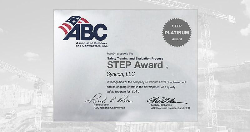 2015 STEP Safety Award